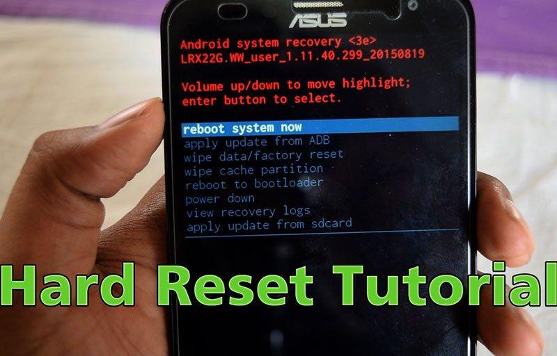 How To Hard Reset Asus Zenfone 2 Laser Ze550kl With Hardware Keys