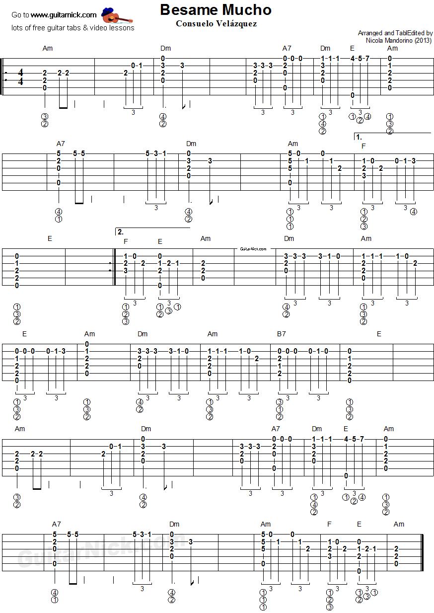 George Harrison Something Instrumental Tab Sample Music Instrumental Partituras Guitarras