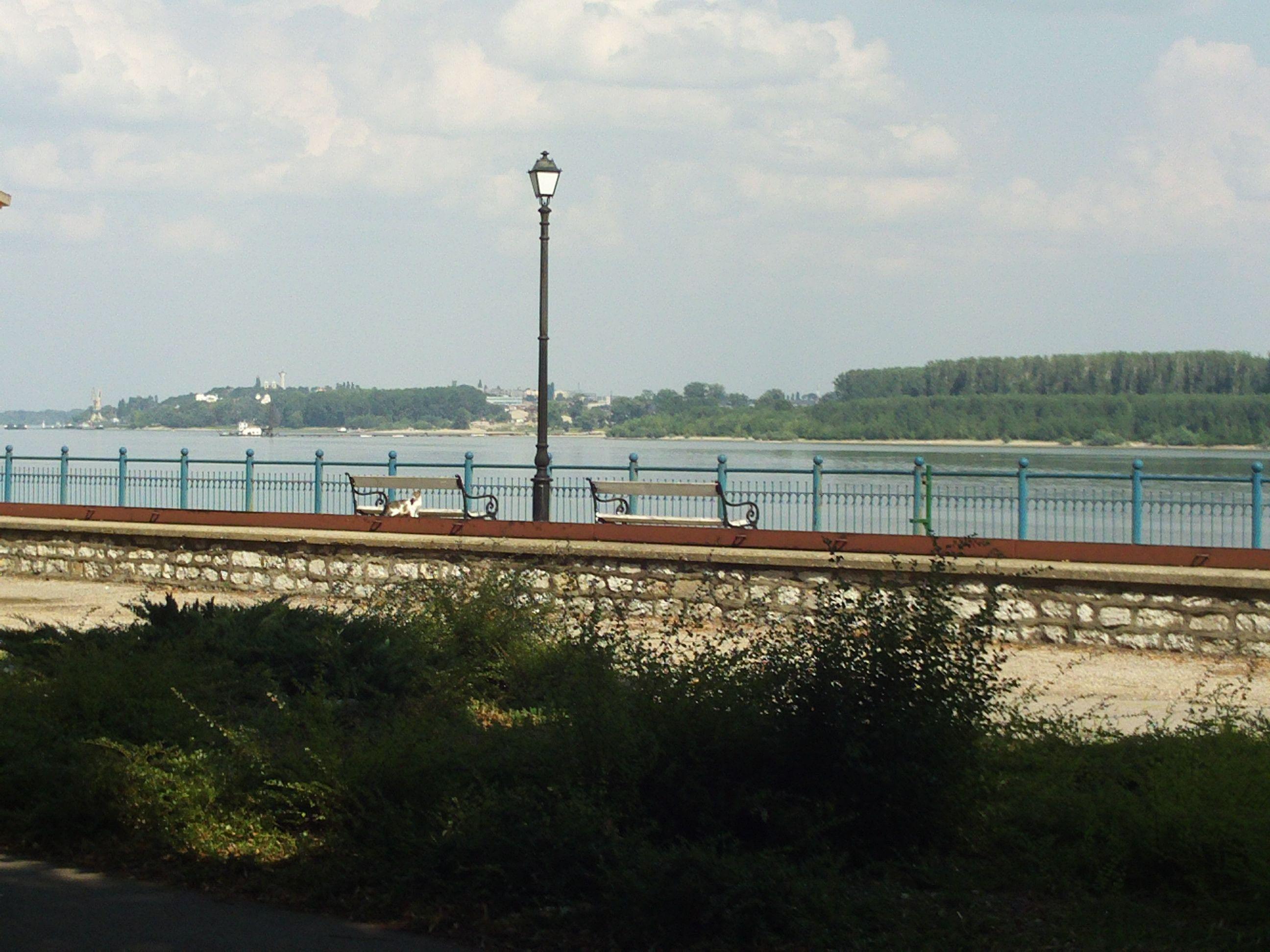 Danube seen from Vidin (Bulgaria) - across the river is Calafat (Romania)