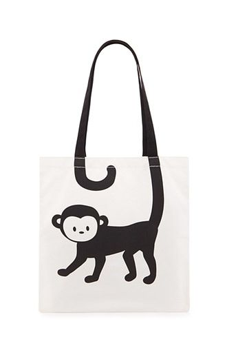 Monkey Graphic Tote Bag, Forever 21. Bag Trends Spring 2017
