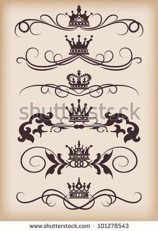 Decorative Dividers Vector Set Victorian Scrolls And