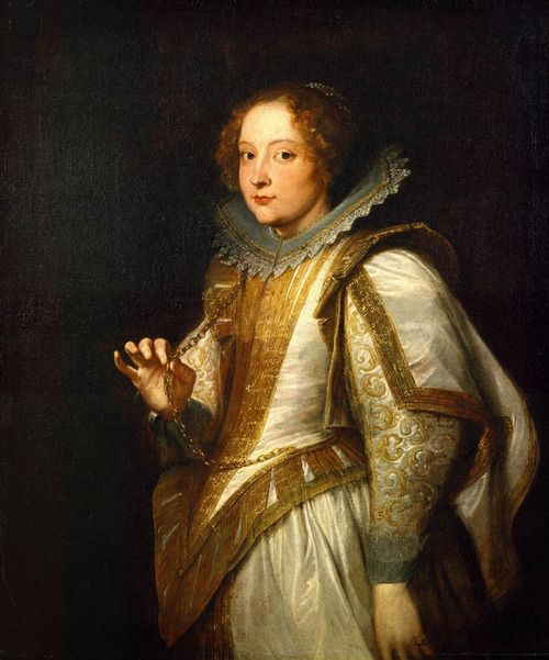 Marchesa Giovanna Cattaneo by Anthony van Dyck  Date: 1622-1627