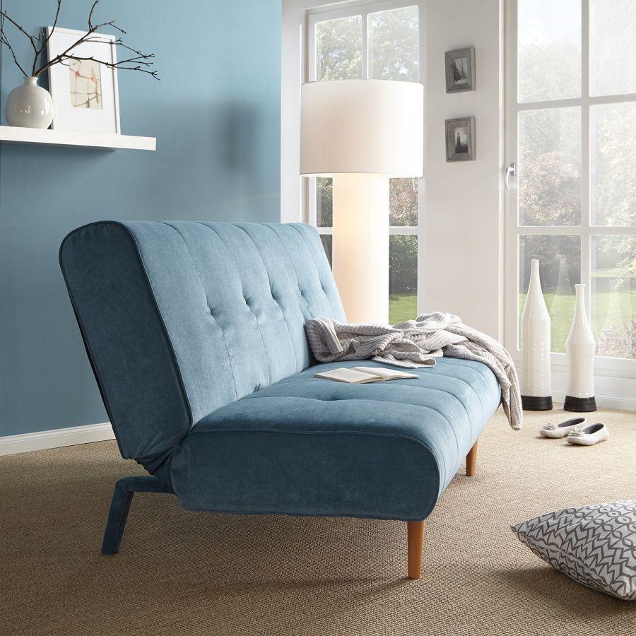 Schlafsofa binas webstoff blau einrichtung wohn und esszimmer inspiration sofa - Esszimmer inspiration ...