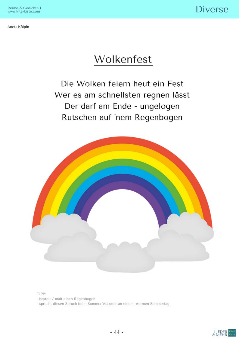 Gedichte regenbogen Regenbogen in