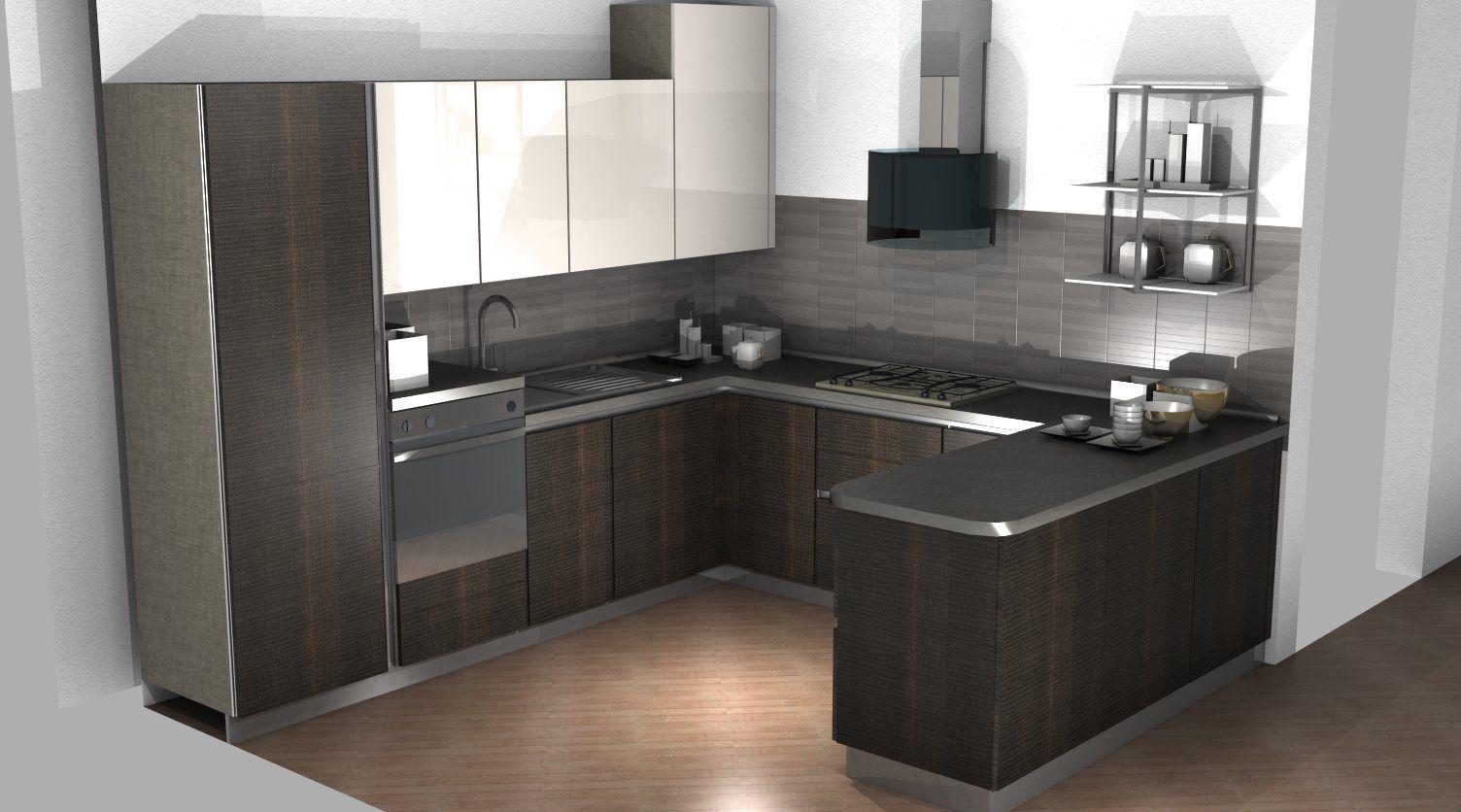 Cucina scavolini con penisola cucina kitchen - Cucine con penisola ...