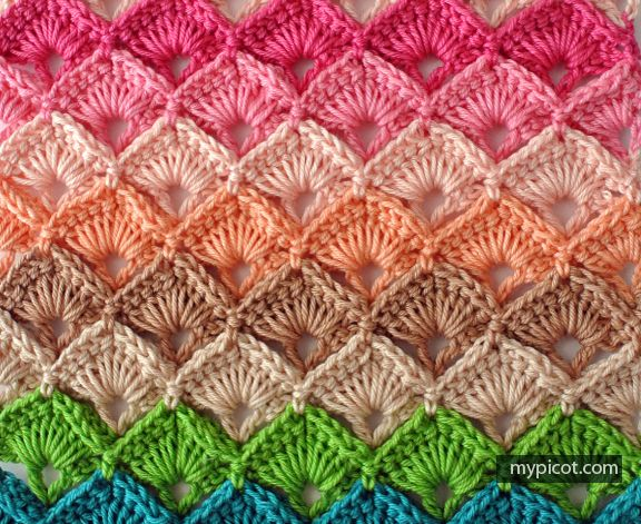 Mypicot Free Crochet Patterns Box Stitch Beautiful Always