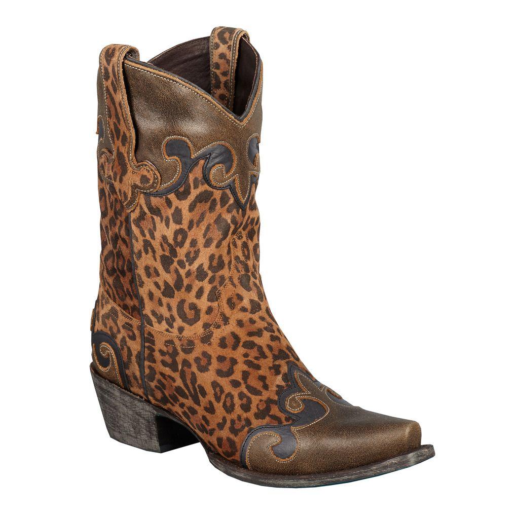 Dakota Cheetah Cowgirl Boots