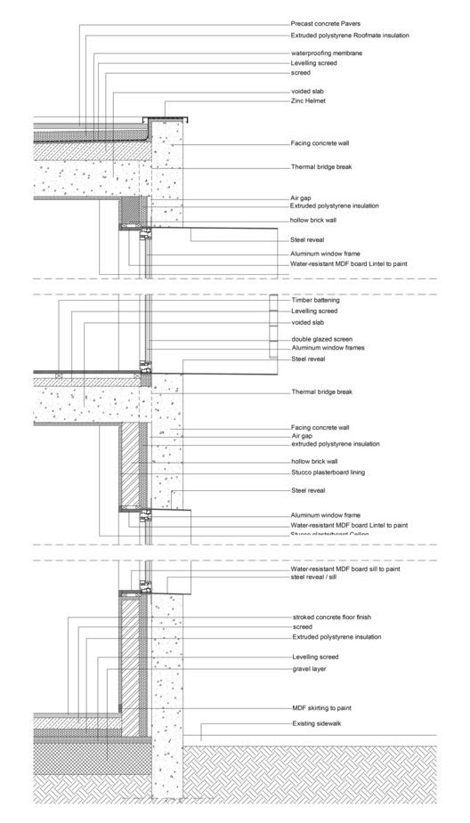 40 Impressive Details Using Concrete Concrete Facade Construction Details Architecture Wall Section Detail