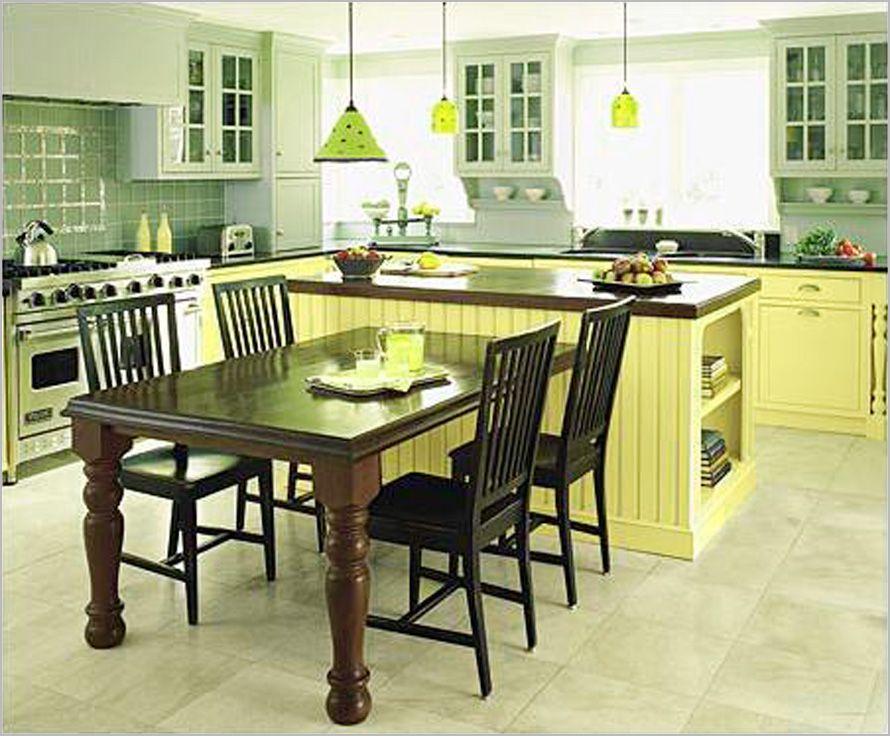 kitchen island table combo ideas yellow photo kitchen island table