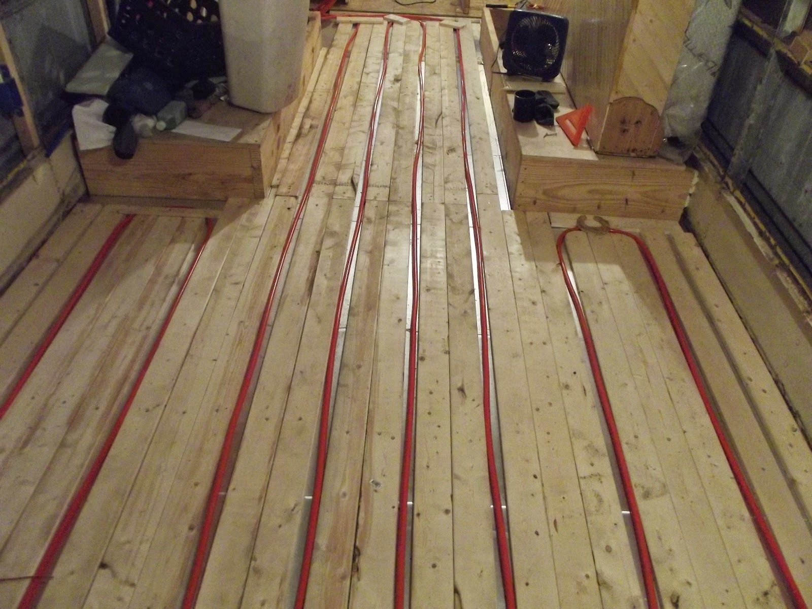 Radiant Floor Heating In A Converted Bus Pex Tubing And