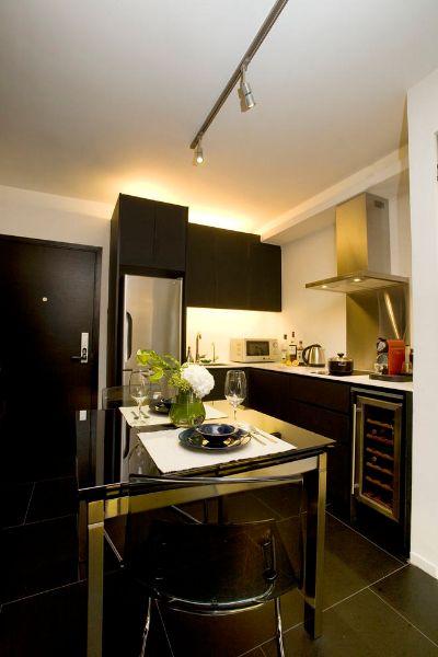 Cucina da single   Idee per la casa   Mini loft, kleine Zimmer e Küche