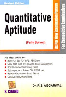 RS Aggarwal Quantitative Aptitude & Verbal & Reasoning Book