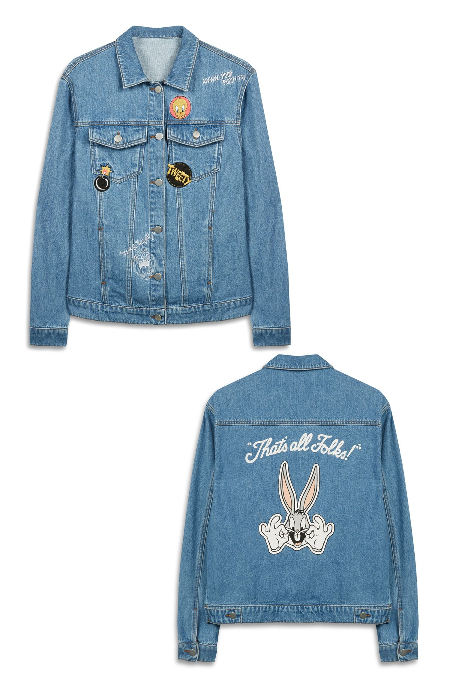 Looney Tunes Denim Jacket Bugs Bunny Licensed Products