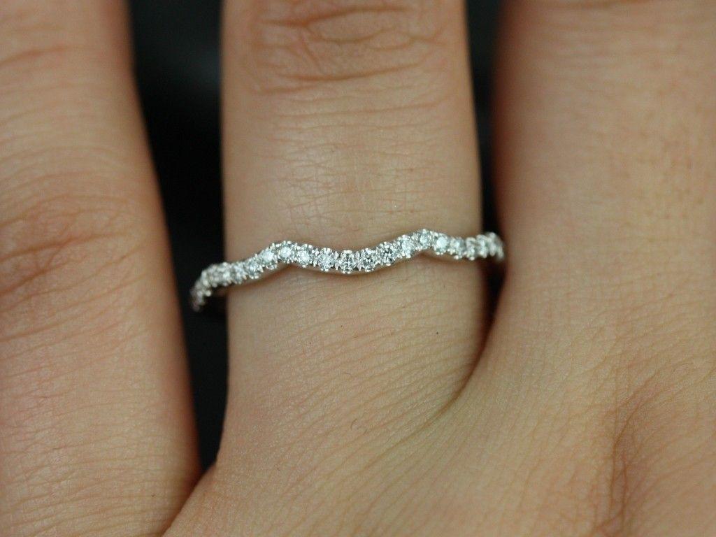 Rosados Box White Gold Matching Band to Tressa Diamonds Wedding Ring