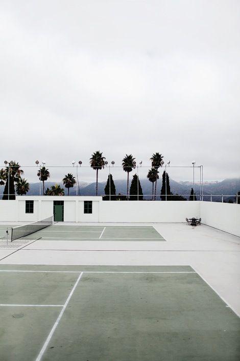 Beautiful tennis court