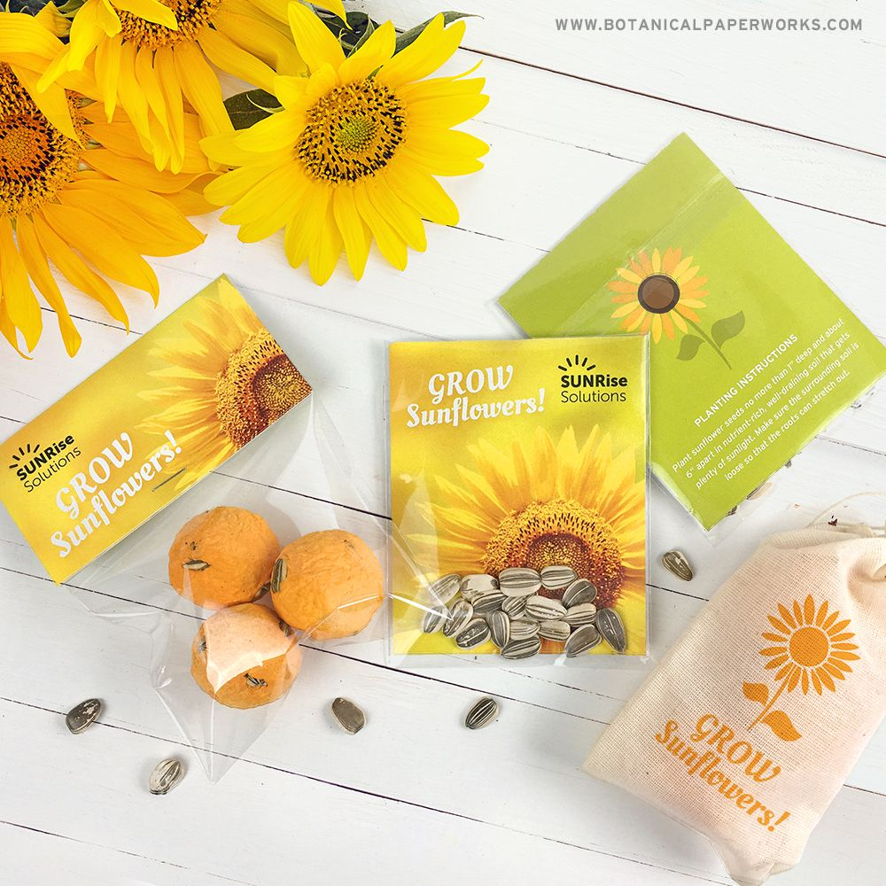 Sunflower Seed Promotions Seed wedding favors, Diy