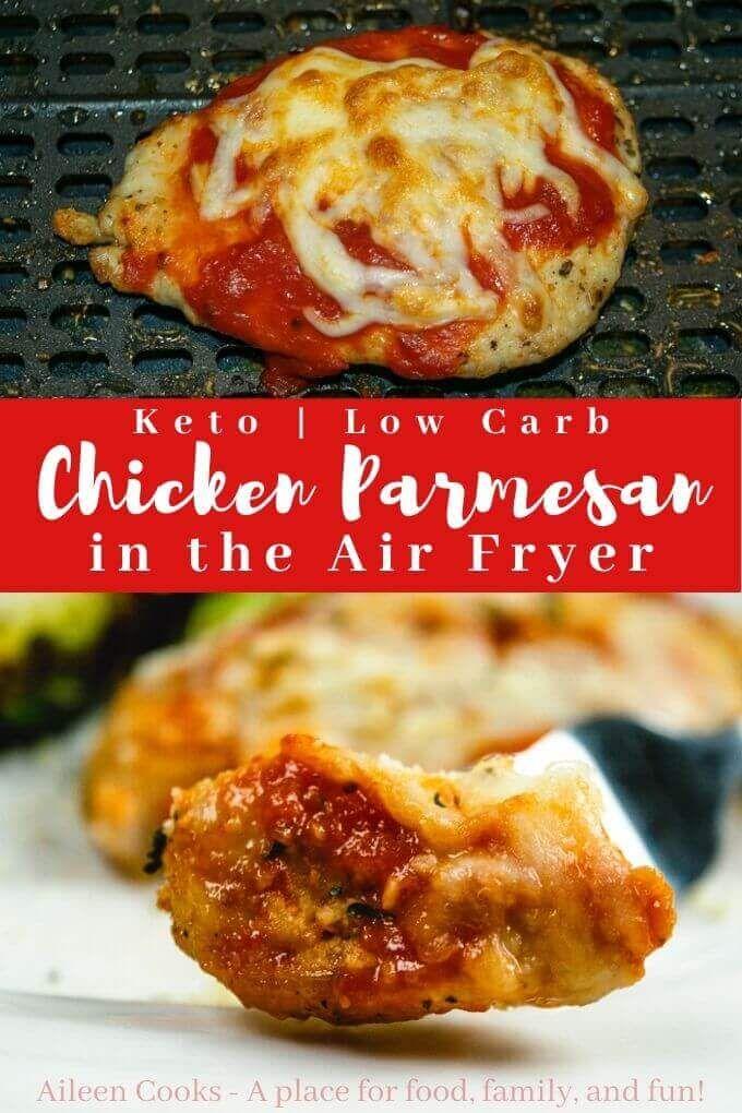 Air Fryer Chicken Parmesan #chickenparmesan