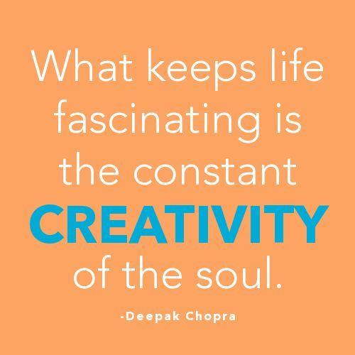 Deepak Chopra #quote #creativity