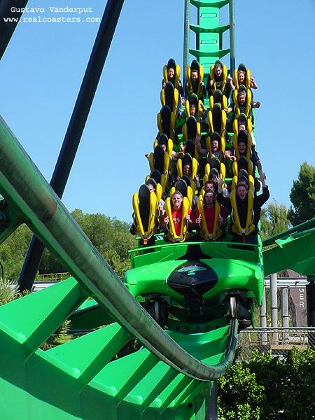 Riddler S Revenge Photo From Six Flags Magic Mountain Roller Coaster Thrill Ride Carnival Rides