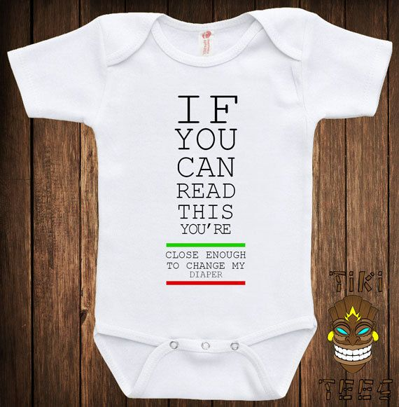 funny bodysuit baby child infant romper if you can read. Black Bedroom Furniture Sets. Home Design Ideas