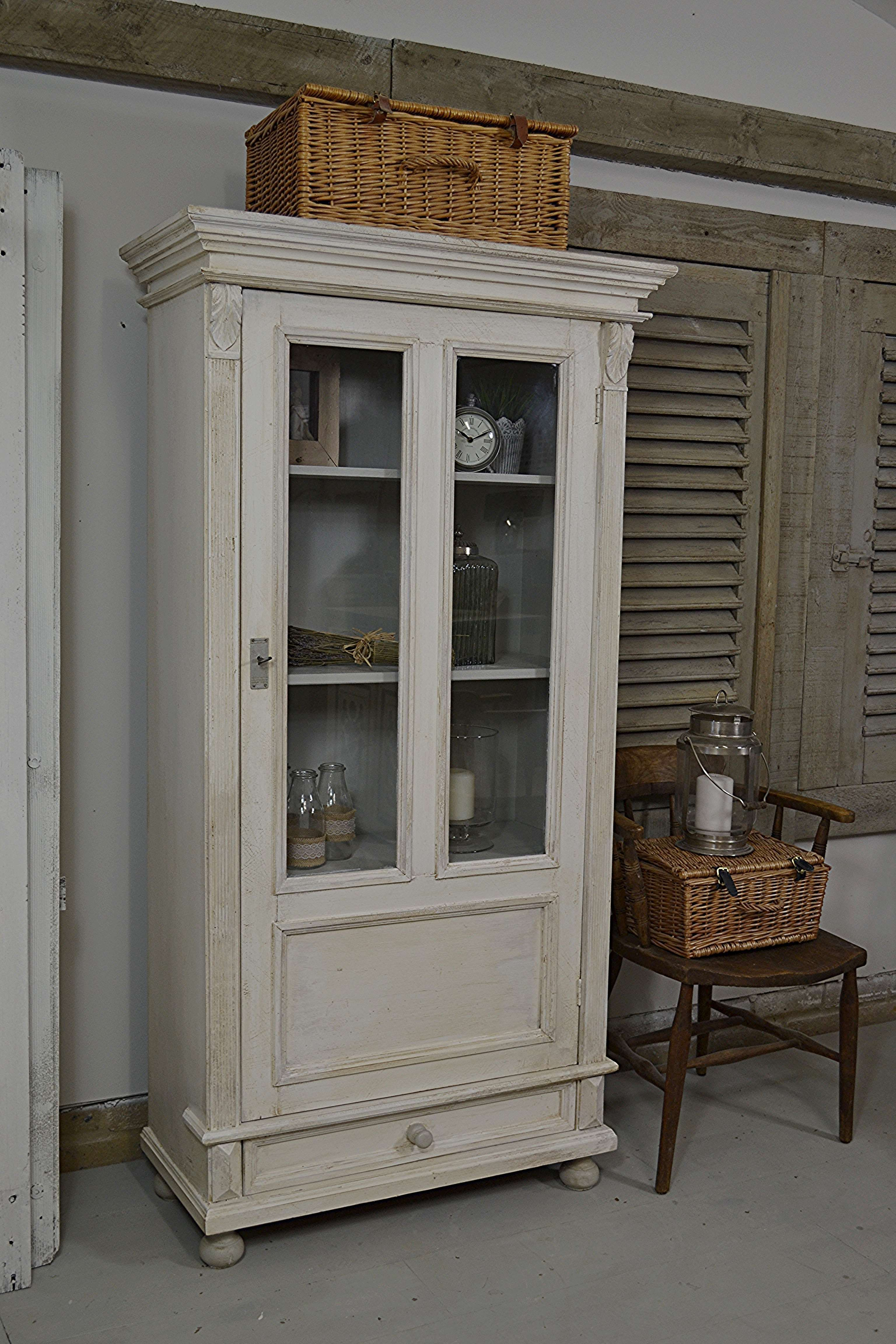 This Small Glass Fronted Dutch Linen Cupboard, Is Perfect For