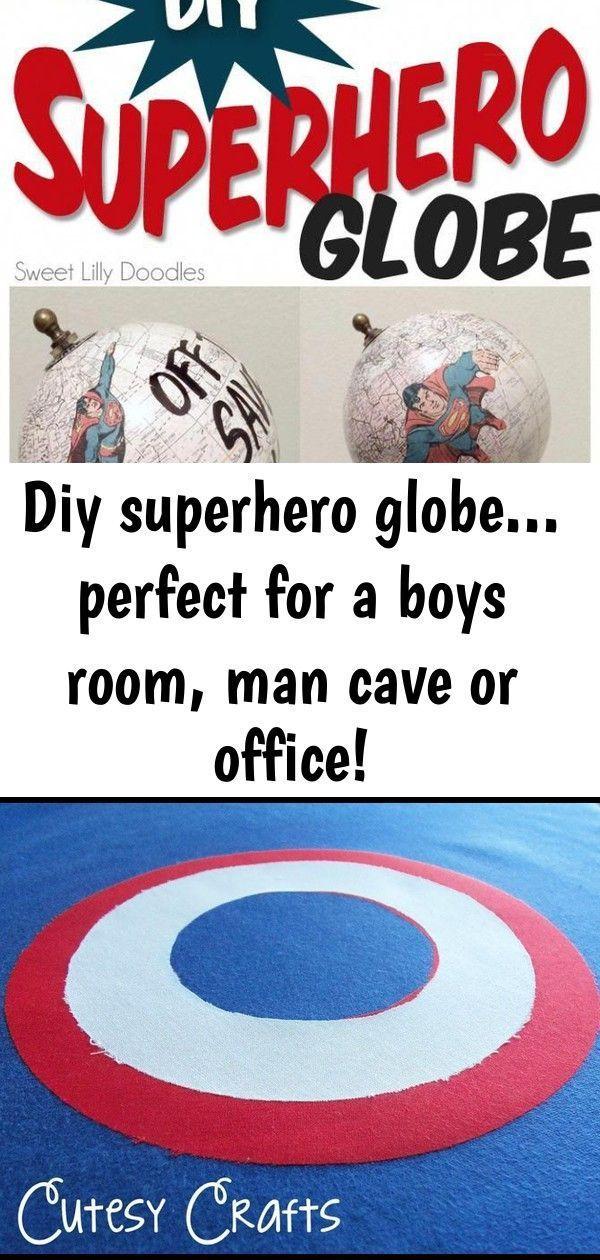 Diy superhero globe... perfect for a boys room, man cave or office! #bedroomidea...  Diy superhero globe… perfect for a boys room, man cave or office! #bedroomideasformen 1#bedroomid #bedroomidea #Boys #Cave #DIY #Globe #man #office #Perfect #Room #superhero