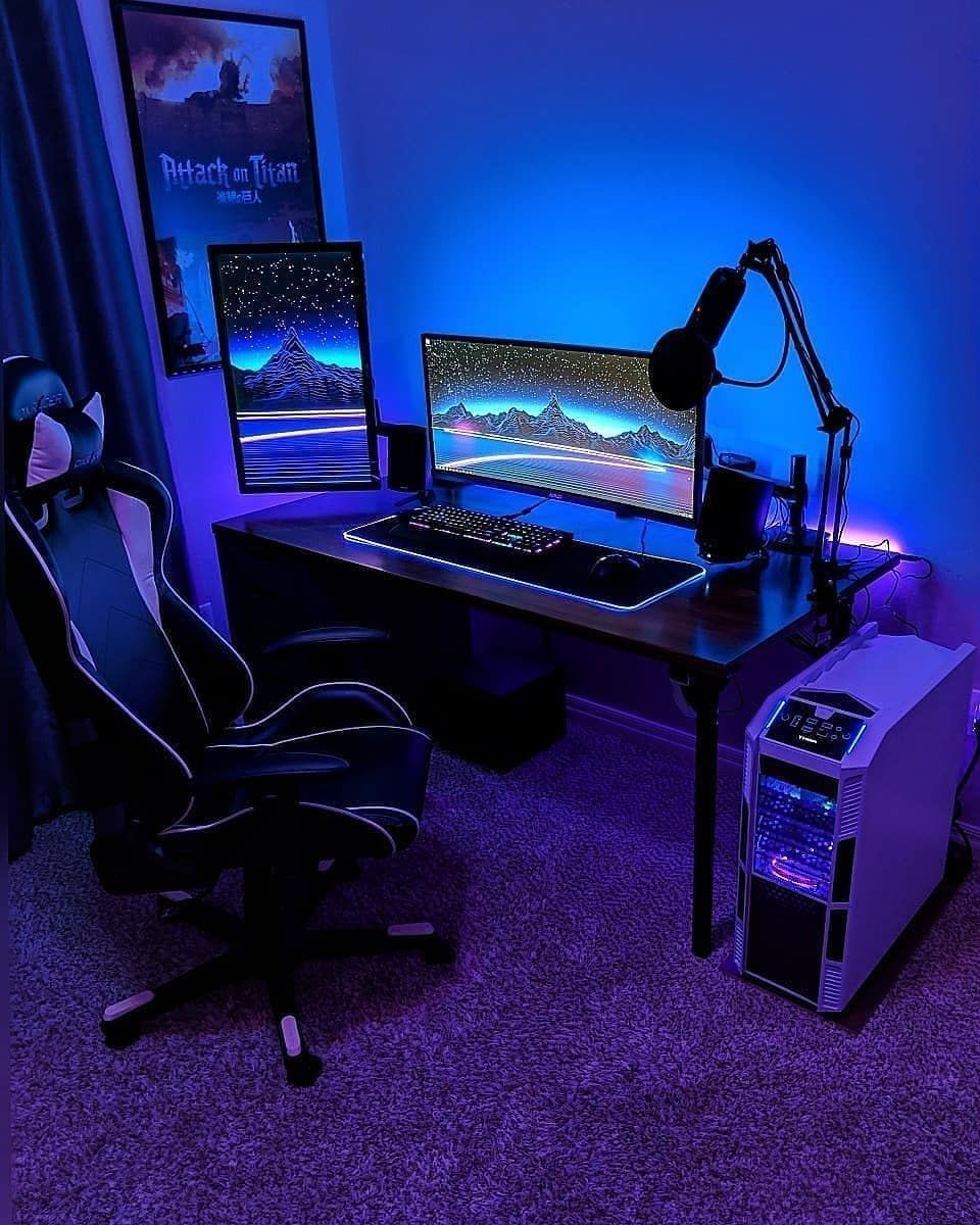 "Infinity Gaming Setups on Instagram: ""Which is the best part in this Setup? #gamingrooms"