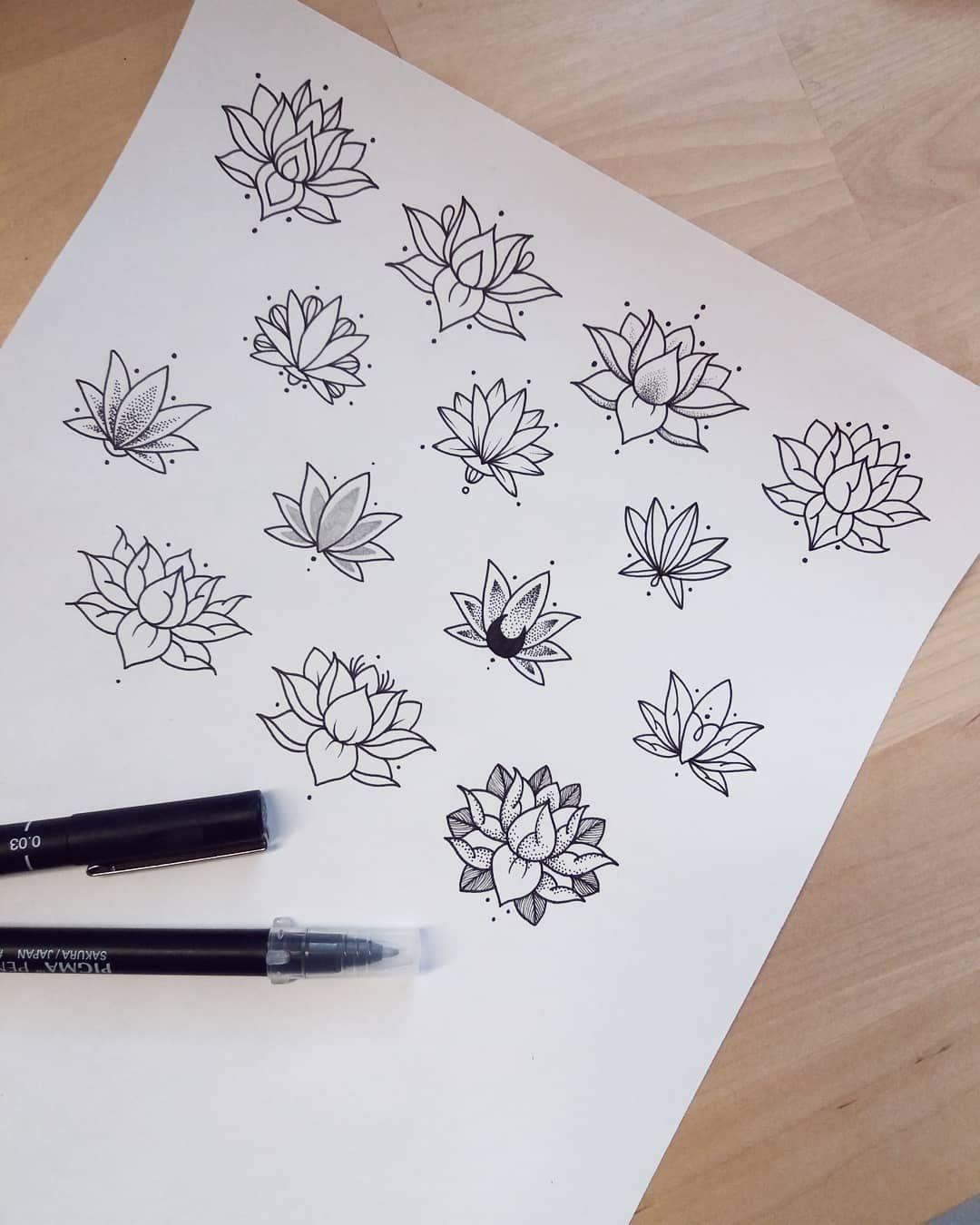 , Martina Tosca Tosato sur Instagram: « Les fleurs de lotus 🍃 disponible à tatoué à un prix spécial!, My Tattoo Blog 2020, My Tattoo Blog 2020