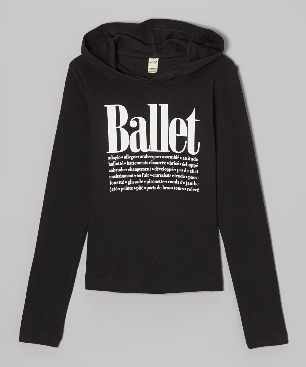 8f989cd93 Black 'Ballet' Hoodie - Women | Dance | Ballet clothes, Dance shirts ...