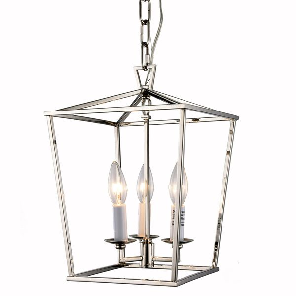 Charming Denmark Collection 1422 Pendant Lamp With Polished Nickel Finish