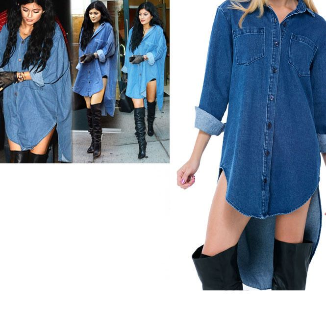 c2ae47745 Image result for how to wear an oversized denim shirt dress ...
