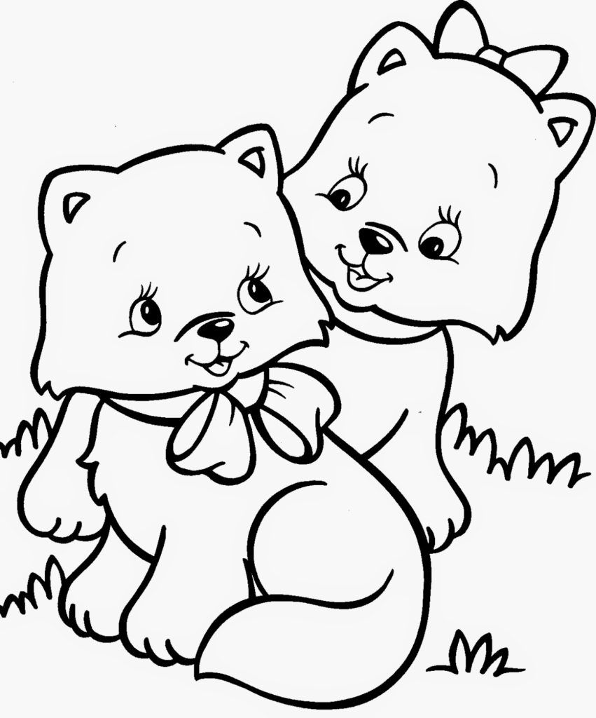 Cat Coloring Pages Cartoon coloring pages, Cute coloring