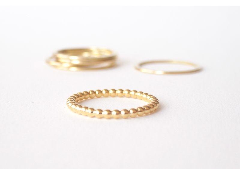 Kugelring 750er Gold | Gold, Dawanda und Ringe