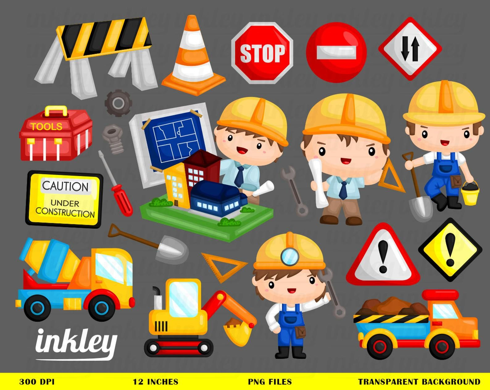 Architect And Consruction Clipart Job And Occupation Clip Etsy Clip Art School Board Decoration Cute Animal Clipart