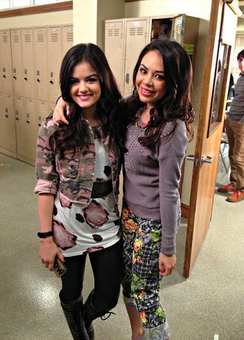 Janel Parrish Takes Us Behind the Scenes of Pretty Little Liars Before Tonight's Season Finale!