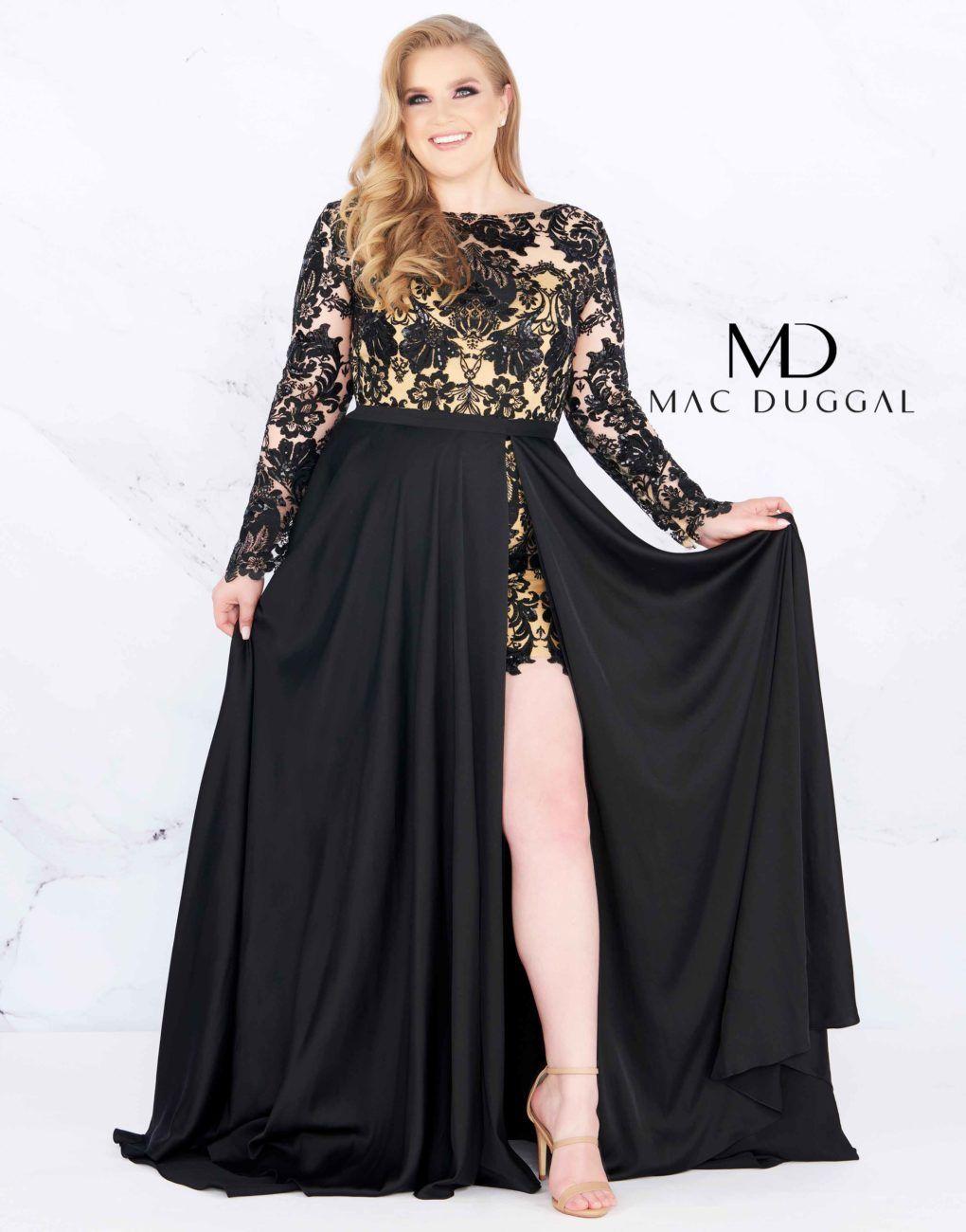 15f87d080fbd 66809F - Mac Duggal Plus Size Dress in 2019 | Plus size prom dresses ...