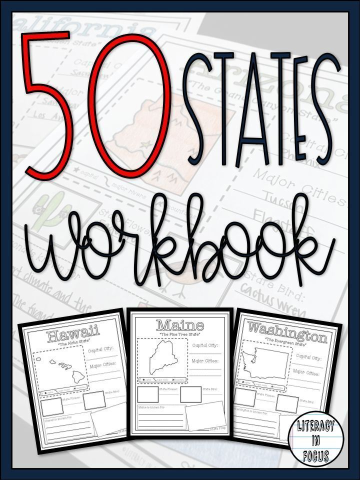 50 States Worksheets Upper elementary resources, 7th