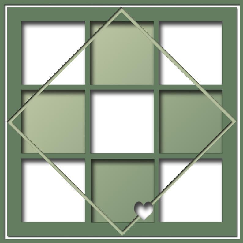 Scrapbook Templates, Digital Scrapbook Template, S