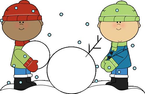 Boys Building A Snowman Clip Art Boys Building A Snowman Image Clip Art Winter Drawings Illustrations Kids