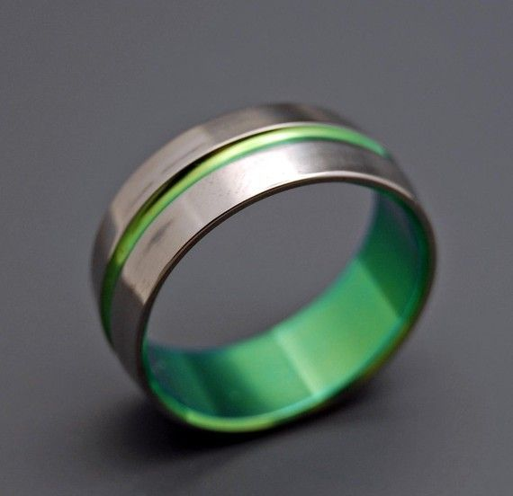 Inspired By Green Anium Wedding Bands Minterandrichterdes