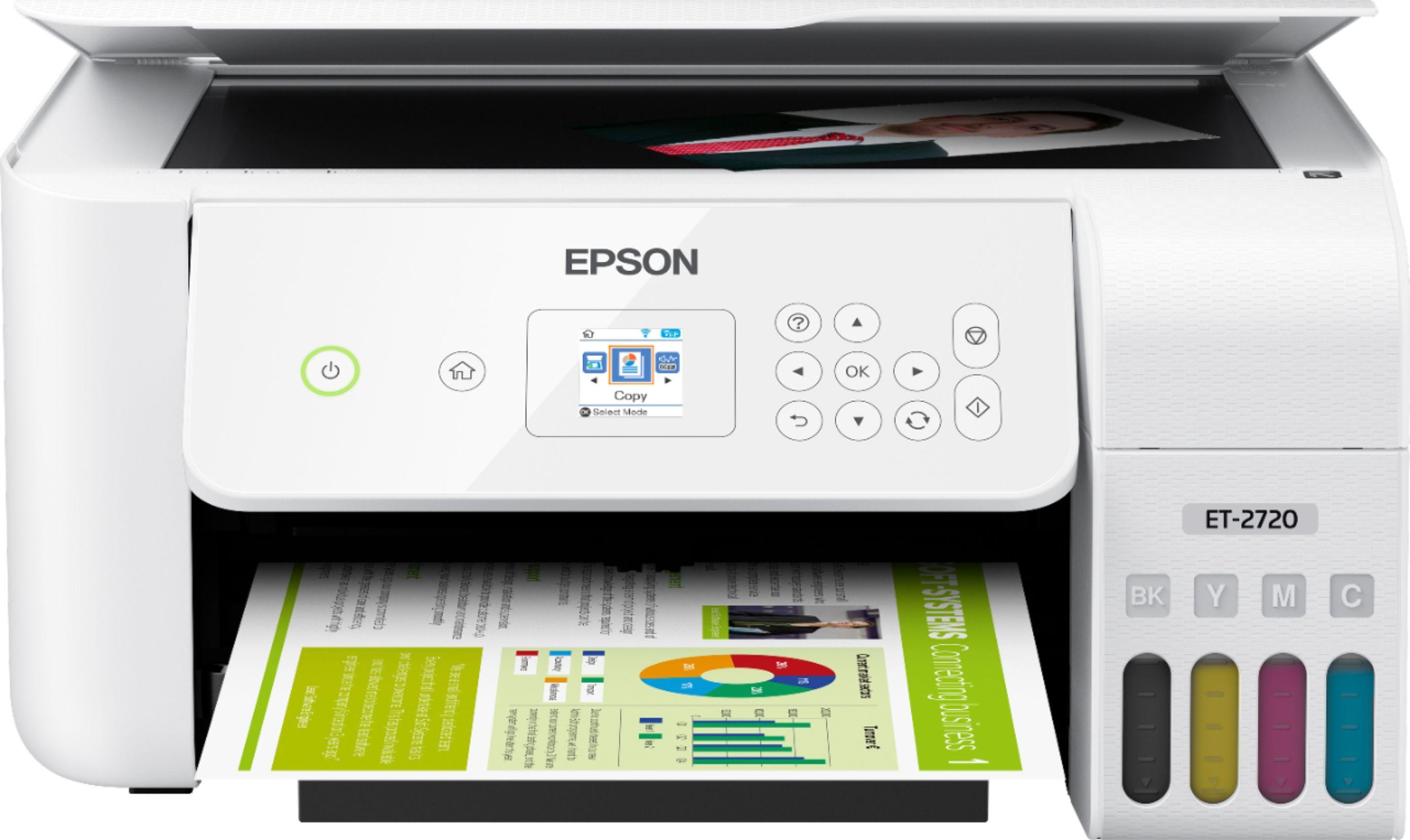 Epson Ecotank Et 2720 Wireless All In One Inkjet Printer White