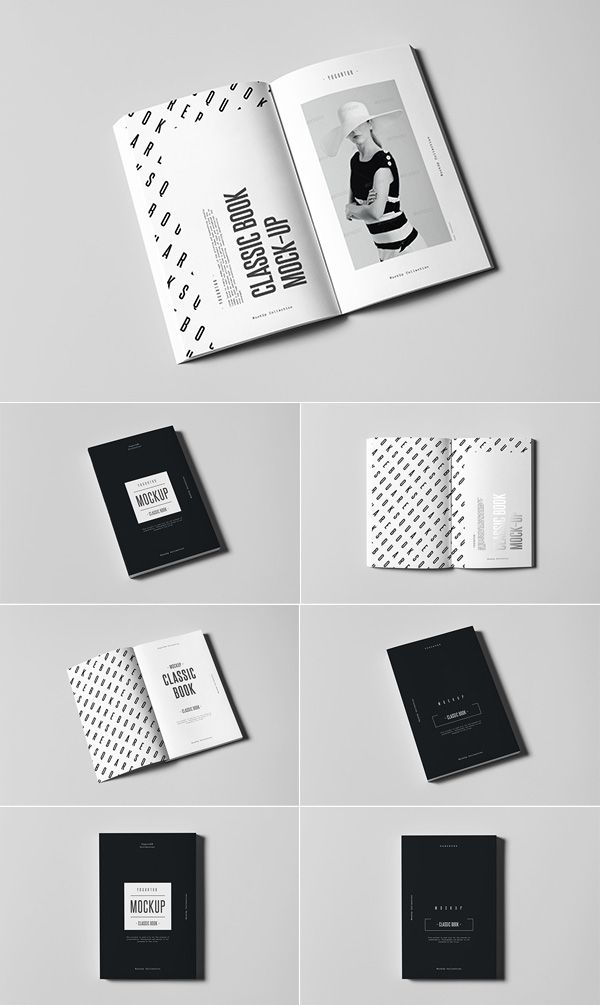 The freebie of the day is a nice set of 5 blank magazine mockups ...