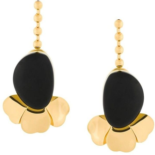 Marni Resin Earrings in Metallics