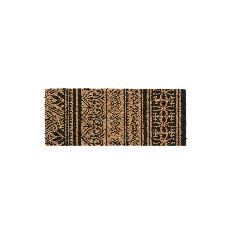 Paillasson Coco Multicouleur L 30 Cm X L 75 Cm X Ep 15 Mm Tattoo Paillasson Tapis Brosse Tapis