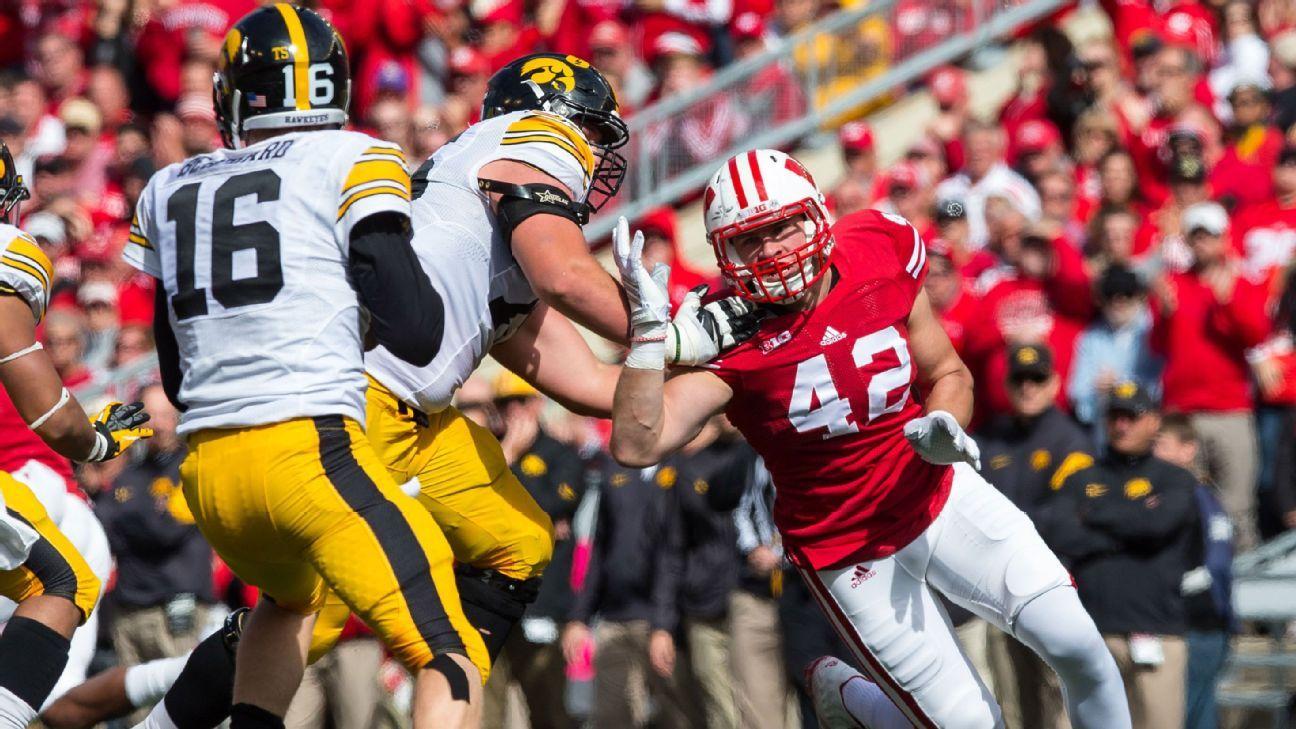 Wisconsin LB T.J. Watt won't be intimidated replacing an