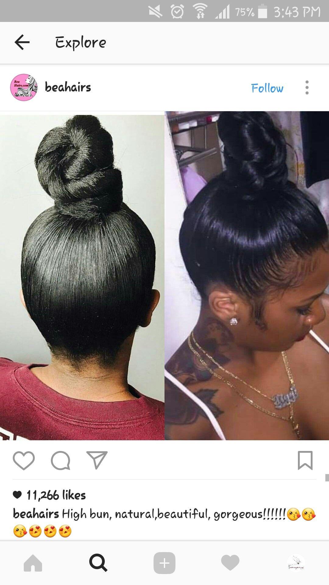Fake Hair And Rent Hair Up In A Bun Get Bundles Black Hair