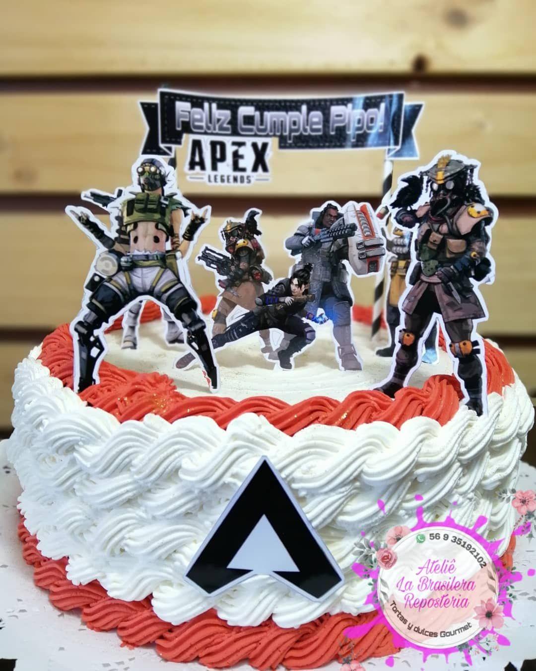Apex leyendas batalla real Cake Topper Personalizado Comestible Cumpleaños Pastel Topper