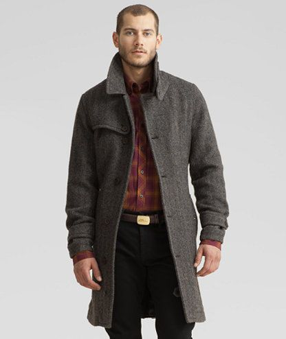 LL Bean Signature Men  Wool Trench  Wish men would let me dress them.