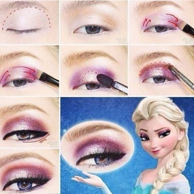 astuce maquillage reine des neiges frozen pinterest makeup and elsa. Black Bedroom Furniture Sets. Home Design Ideas