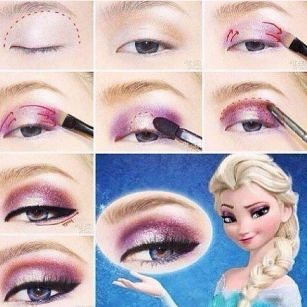 diy disney 39 s frozen elsa eyeshadow maquillage pinterest maquillage reine des neiges. Black Bedroom Furniture Sets. Home Design Ideas